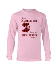 MARYLAND GIRL LIVING IN NEW JERSEY WORLD Long Sleeve Tee thumbnail