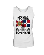 LIVE IN FLORIDA BEGAN IN DOMINICAN Unisex Tank thumbnail