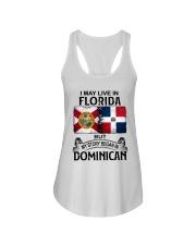 LIVE IN FLORIDA BEGAN IN DOMINICAN Ladies Flowy Tank thumbnail