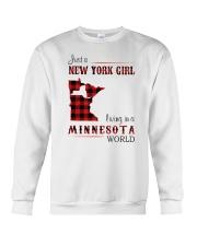 NEW YORK GIRL LIVING IN MINNESOTA WORLD Crewneck Sweatshirt thumbnail