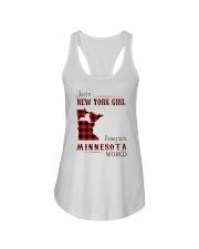 NEW YORK GIRL LIVING IN MINNESOTA WORLD Ladies Flowy Tank thumbnail