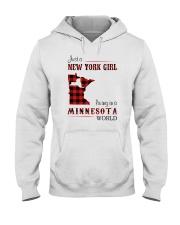 NEW YORK GIRL LIVING IN MINNESOTA WORLD Hooded Sweatshirt thumbnail