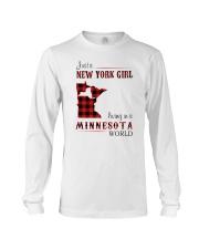NEW YORK GIRL LIVING IN MINNESOTA WORLD Long Sleeve Tee thumbnail