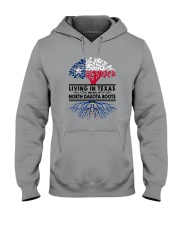 LIVING IN TEXAS WITH NORTH DAKOTA ROOTS Hooded Sweatshirt thumbnail