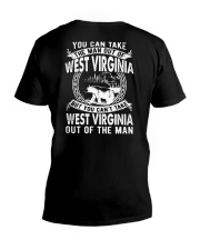 YOU CAN'T TAKE WEST VIRGINIA OUT OF MAN V-Neck T-Shirt thumbnail