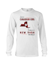 CANADIAN GIRL LIVING IN NEW YORK WORLD Long Sleeve Tee thumbnail