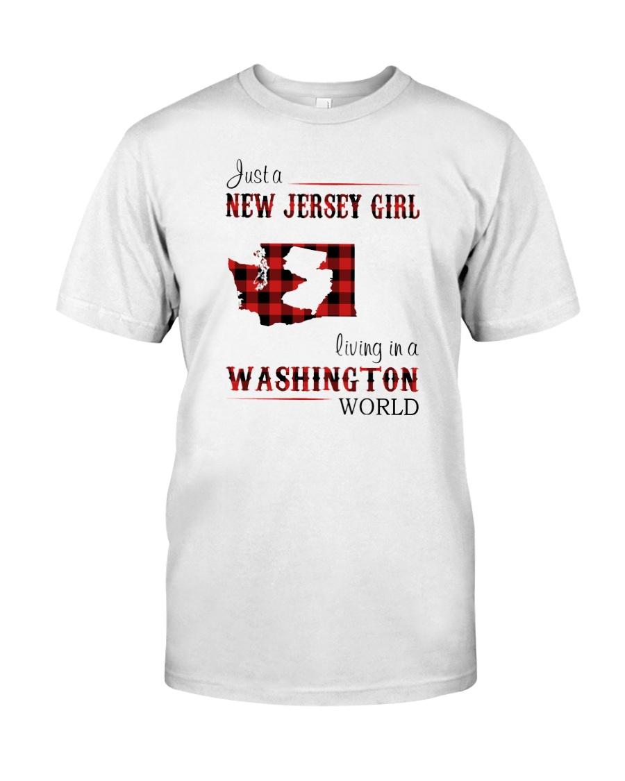 JERSEY GIRL LIVING IN WASHINGTON WORLD Classic T-Shirt