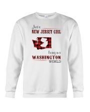 JERSEY GIRL LIVING IN WASHINGTON WORLD Crewneck Sweatshirt thumbnail