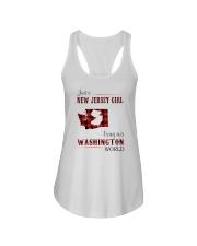 JERSEY GIRL LIVING IN WASHINGTON WORLD Ladies Flowy Tank thumbnail