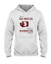 JERSEY GIRL LIVING IN WASHINGTON WORLD Hooded Sweatshirt thumbnail