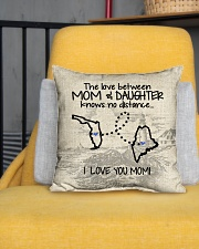 """MAINE FLORIDA THE LOVE MOM AND DAUGHTER Indoor Pillow - 16"""" x 16"""" aos-decorative-pillow-lifestyle-front-01"""