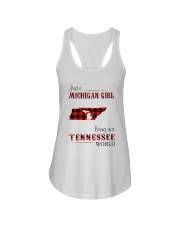 MICHIGAN GIRL LIVING IN TENNESSEE WORLD Ladies Flowy Tank tile