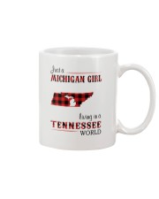 MICHIGAN GIRL LIVING IN TENNESSEE WORLD Mug tile