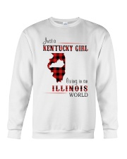 KENTUCKY GIRL LIVING IN ILLINOIS WORLD Crewneck Sweatshirt thumbnail