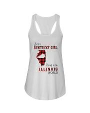 KENTUCKY GIRL LIVING IN ILLINOIS WORLD Ladies Flowy Tank thumbnail