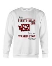 PUERTO RICAN GIRL LIVING IN WASHINGTON WORLD Crewneck Sweatshirt thumbnail