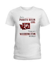 PUERTO RICAN GIRL LIVING IN WASHINGTON WORLD Ladies T-Shirt thumbnail