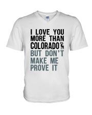 I LOVE YOU MORE THAN COLORADO V-Neck T-Shirt thumbnail