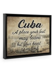 CUBA A PLACE YOUR HEART REMAINS 14x11 Black Floating Framed Canvas Prints thumbnail