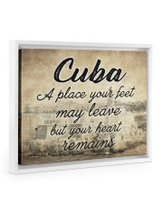 CUBA A PLACE YOUR HEART REMAINS 14x11 White Floating Framed Canvas Prints thumbnail