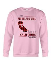 MARYLAND GIRL LIVING IN CALIFORNIA WORLD Crewneck Sweatshirt thumbnail