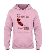 MARYLAND GIRL LIVING IN CALIFORNIA WORLD Hooded Sweatshirt thumbnail