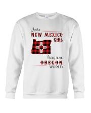 NEW MEXICO GIRL LIVING IN OREGON WORLD Crewneck Sweatshirt thumbnail