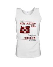 NEW MEXICO GIRL LIVING IN OREGON WORLD Unisex Tank thumbnail