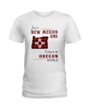 NEW MEXICO GIRL LIVING IN OREGON WORLD Ladies T-Shirt thumbnail