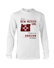NEW MEXICO GIRL LIVING IN OREGON WORLD Long Sleeve Tee thumbnail