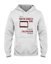 SOUTH DAKOTA GIRL LIVING IN COLORADO WORLD Hooded Sweatshirt thumbnail
