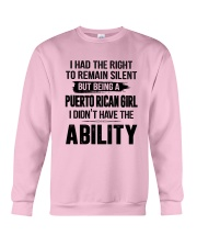 BEING A PUERTO RICAN GIRL I DIDN'T HAVE ABILITY Crewneck Sweatshirt thumbnail