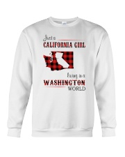 CALIFORNIA GIRL LIVING IN WASHINGTON WORLD Crewneck Sweatshirt thumbnail