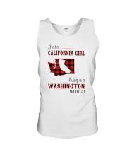 CALIFORNIA GIRL LIVING IN WASHINGTON WORLD Unisex Tank thumbnail