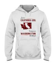 CALIFORNIA GIRL LIVING IN WASHINGTON WORLD Hooded Sweatshirt thumbnail