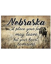 NEBRASKA A PLACE YOUR HEART REMAINS Horizontal Poster tile