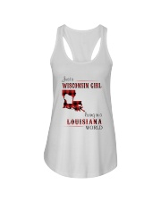 WISCONSIN GIRL LIVING IN LOUISIANA WORLD Ladies Flowy Tank thumbnail
