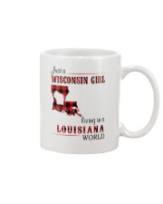 WISCONSIN GIRL LIVING IN LOUISIANA WORLD Mug tile