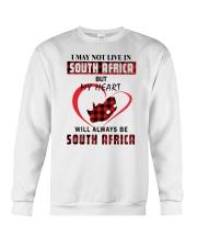 MY HEART WILL ALWAYS BE SOUTH AFRICA Crewneck Sweatshirt thumbnail