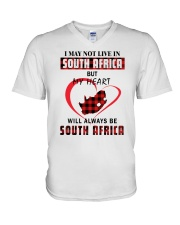 MY HEART WILL ALWAYS BE SOUTH AFRICA V-Neck T-Shirt thumbnail