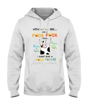 COW WITH A FUCK FUCK HERE Hooded Sweatshirt thumbnail