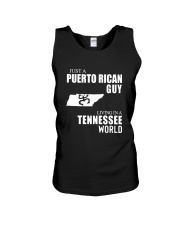 JUST A PUERTO RICAN GUY LIVING IN TENNESSEE WORLD Unisex Tank thumbnail