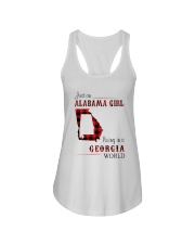 ALABAMA GIRL LIVING IN GEORGIA WORLD Ladies Flowy Tank thumbnail