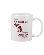 JERSEY GIRL LIVING IN MICHIGAN WORLD Mug thumbnail