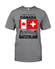 LIVE IN CANADA BEGAN IN SWITZERLAND ROOT Classic T-Shirt front