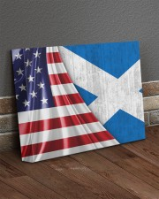 SCOTLAND AND UNITED STATES FLAG 14x11 Gallery Wrapped Canvas Prints aos-canvas-pgw-14x11-lifestyle-front-10