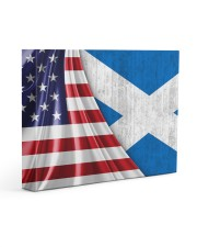 SCOTLAND AND UNITED STATES FLAG 14x11 Gallery Wrapped Canvas Prints front