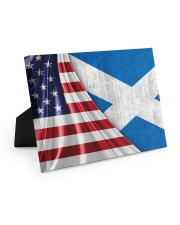 SCOTLAND AND UNITED STATES FLAG 10x8 Easel-Back Gallery Wrapped Canvas thumbnail
