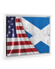 SCOTLAND AND UNITED STATES FLAG 14x11 White Floating Framed Canvas Prints thumbnail