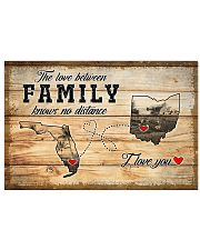 OHIO FLORIDA LOVE BETWEEN FAMILY Horizontal Poster tile